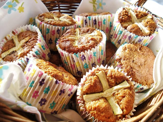 Hot Cross Carrot Muffins Basket Gluten Free SCD And Veggie
