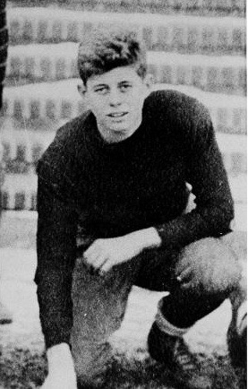 John F. Kennedy is pictured at age 16 when he played football for the Choate School in Wallingford, Conn., 1933. (AP Photo)