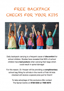 Free BackPack Checks